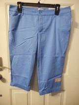 Women's St. John's Bay Secretly Slender Capri Pants Size 18 Marina Azure NEW - $24.74