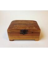 """Vintage Carved Wood Trinket Jewelry Box Keepsake Engraved """"Roberta 1950"""" - $35.00"""