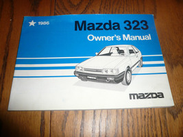 1986 Mazda 323 Owner's Manual - Glove Box - $10.69