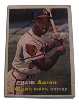 *Hank Aaron  Milwaukee Braves Outfield  Topps 20  baseball card in excellent con - $120.00