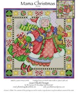 CLEARANCE Mama Christmas JE046 cross stitch chart Joan Elliott Designs - $10.50