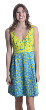 Sz 8 Nanette Lepore Girls Only Cotton/Silk Cutout Back Dress In Lime/Tur... - $59.42 CAD