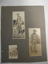 Vintage Photographs of Men at construction site circa 1910's - New Guinea - $30.00