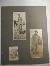 Vintage Photographs of Men at construction site circa 1910's - New Guinea - $30.00