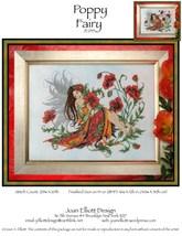 CLEARANCE Poppy Fairy JE035 cross stitch chart Joan Elliott Designs - $10.50