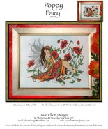 CLEARANCE Poppy Fairy JE035 cross stitch chart Joan Elliott Designs - $10.50