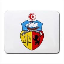 Tunisia Coat of Arms Mousepad (Neoprene Non-slip Mousemat) - Tabard Surcoat - $7.25