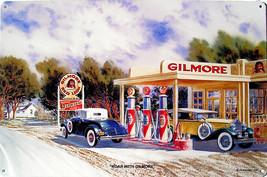 Roar with Gilmore Gas Station Service Jack Schmitt Retro Automotive Meta... - $29.95