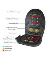 Heated Massage Seat Cushion Car Auto Travel Heating Pad Home Chair Offic... - $67.49