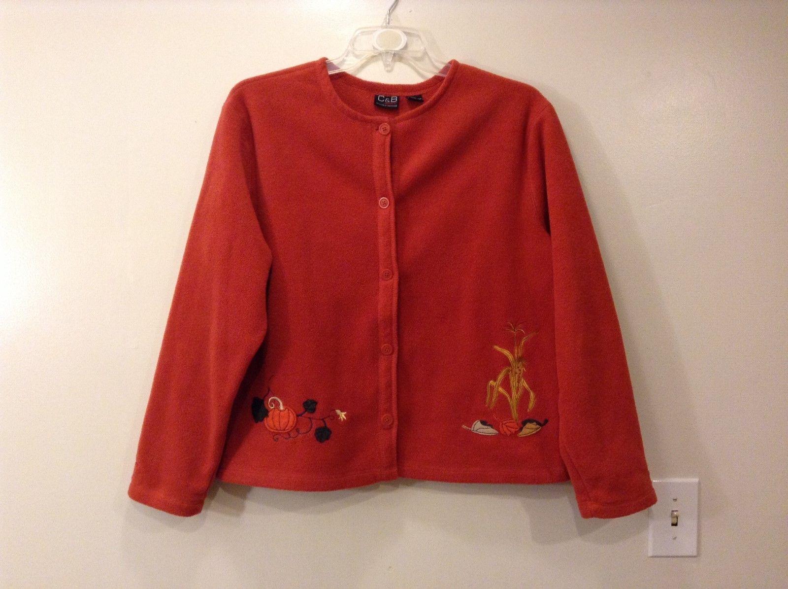 Ladies Croft and Barrow sport fleece orange/Red fall Motives Jacket