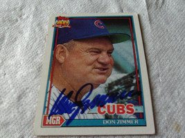 DON  ZIMMER  HAND SIGNED  AUTOGRAPHED   TOPPS  BASEBALL  1981  # 729   CUBS - $19.99