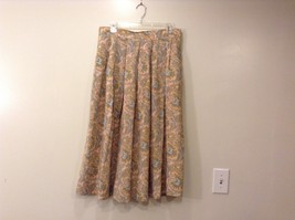 100% pure silk Paisley Abstract Floral pattern skirt Size 14