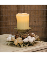 "Easter Table Piece Egg & Wheat 8"" Candle/Taper Ring Spring Home Decor  - $34.99"