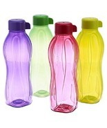 Tupperware Aquasafe Sports Water Bottle Screw Top Round 1 Ltr (Set of 4) - $28.11 CAD