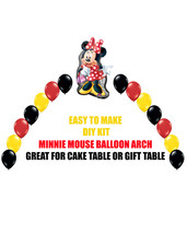 Red Minnie Mouse Birthday Balloons, Minnie Party Decor Cake Table Gift T... - $22.00