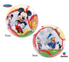 FAST SHIP Mickey Clubhouse Birthday Bubble Balloons, Mickey Mouse Party ... - $8.50