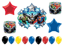 FAST SHIP Super Heroes Birthday Balloons Bouquet, Super Heroes Party Bal... - $17.50
