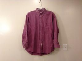 Men's Savane light Maroon 100 % cotton  Button-down shirt size XL