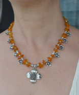 SOLD- Amber Necklace, Baltic Amber Necklace, Genuine Baltic Amber (576) - $34.99