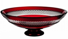 Waterford John Rocha RED CUT Footed Centerpiece... - $849.00