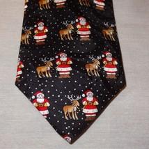 """Santa Claus Rudolf Reindeer Novelty Tie Necktie 58"""" Silk Robert Talbott ... - $36.89"""