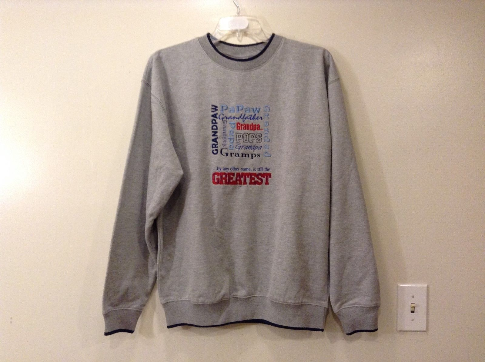 Men's Heather Gray sport sweater Grandpa size L