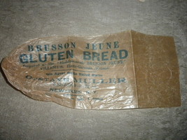 Brusson Jeune, France Wrapper for Gluten Bread; G Muller, sole US agent ... - $8.49