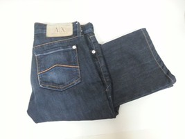 Armani Jeans Boot Cut Stretch Borderline Indigo Denim Size 0 Regular - $12.95