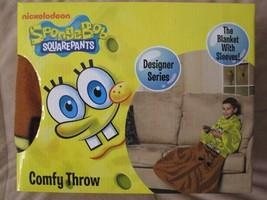 Nickelodeon Spongebob Squarepants Comfy Throw Blanket with Sleeves Kids ... - $21.78