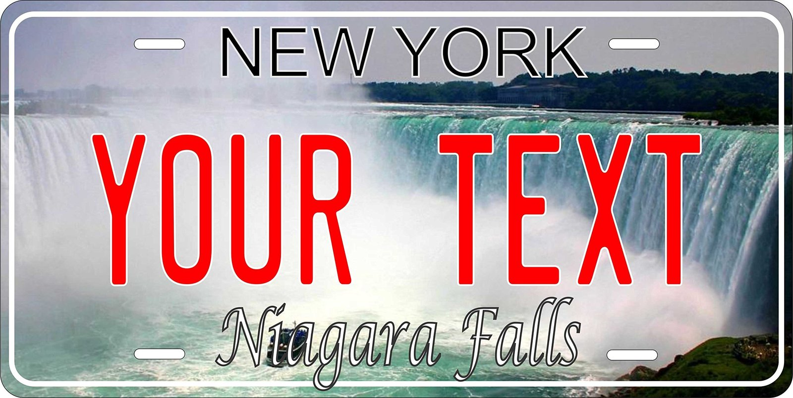 Niagara Falls New York Personalized Custom Novelty Tag Vehicle Car Auto Motor...