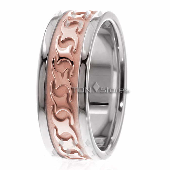14K Solid Gold 8mm Mens Celtic Wedding Bands Rings Mens Celtic Wedding Band Ring