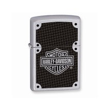 Zippo H-D Carbon Fiber Satin Chrome Lighter - $35.05