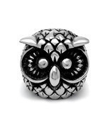 The unique design of the retro owl mascot ring Titanium steel jewelry SA388 - $185,87 MXN