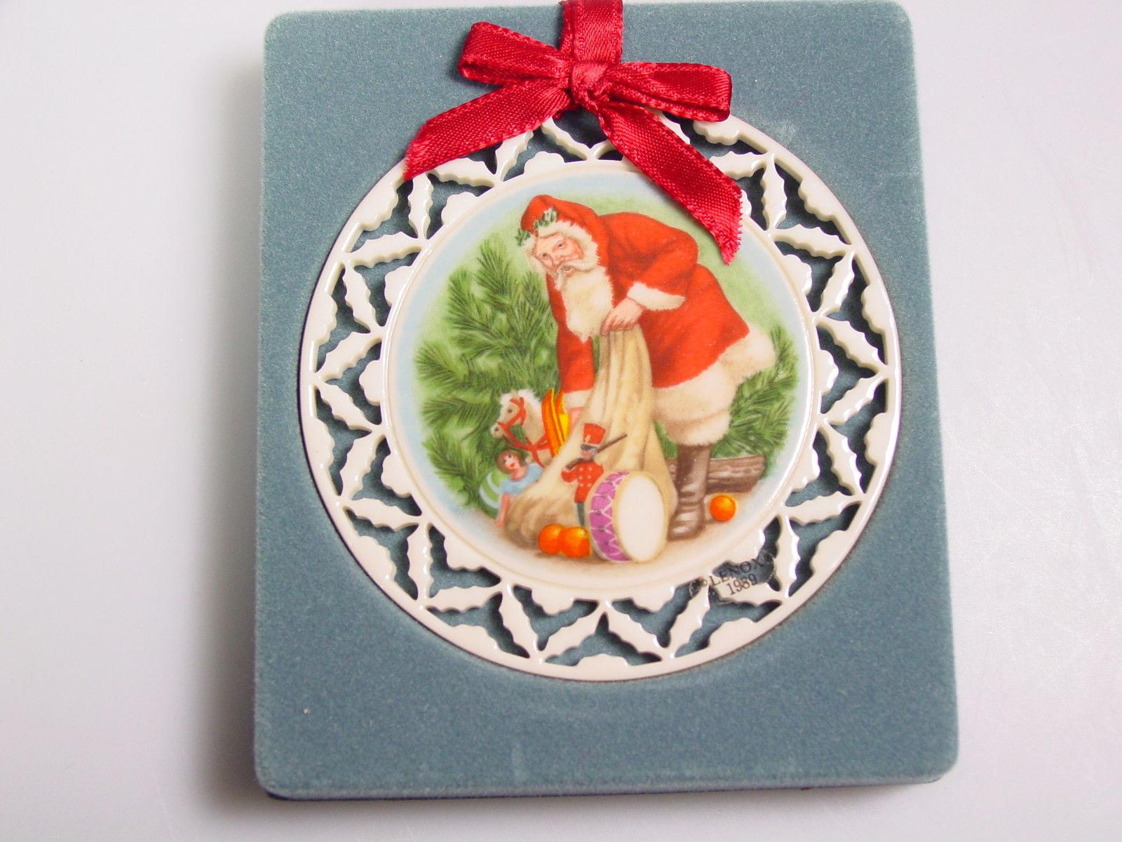 LENOX Christmas Ornament decoration Santas Visit Portrait Series
