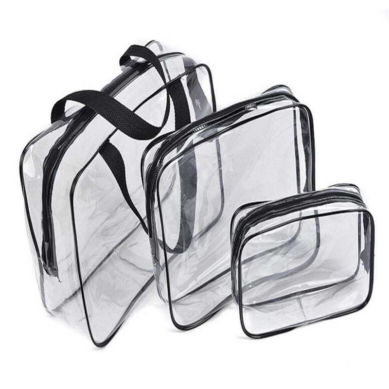3pc  Travel Essential Transparent Waterproof Toiletry Storage Bag Makeup Cosmeti - $20.99