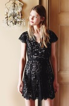 NEW AUTH Joie $348 Sloane Lace Dress, Caviar with Nude Lining, SZ 00,0,12 - $134.10