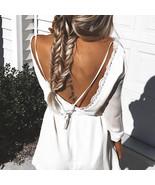 Sexy Backless Long Sleeve Dress - $16.99