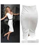 High Waist Mid Calf Pencil Skirt - $37.99