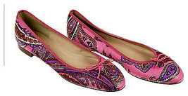 J Crew Kiki Leather Ballet Flats in Paisley Size 7 Multi-color New F5514 - $138.59