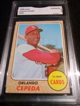 1968 Topps Orlando Cepeda GMA Graded Authentic baseball card number 200 - $9.99