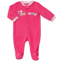 Carters Newborn French Terry Sleep & Play Baby Girl Clothes Pink Footie ... - $15.00