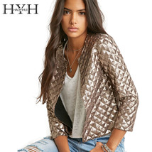 Gold Sequin 3/4 Sleeve Fashion Jacket - $44.99