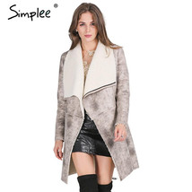 Suede Lambswool Coat - $58.99