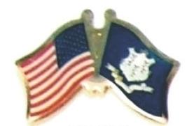 USA / CONNECTICUT - Lot 12 flag friendship pins ec507 - $18.00
