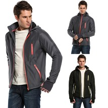 Men Fashion Casual Hooded Raglan Long Sleeve Zip-up Jacket Windbreaker O... - $69.16