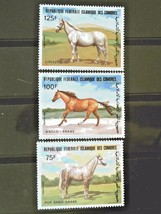 Comoros  Set of 3 Stamps MINT -World of Horses.- MNH Free Shipping #700186 - $1.68