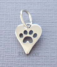 Charm Pendant Tag Dog Paw print Fit European, wire Charm Bracelet /Neckl... - €3,37 EUR