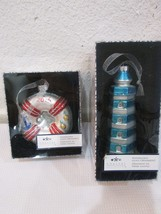 Coastal Collection Nautical Christmas Light House Life Preserver Ornaments 2 - $28.99