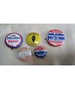 Lot of Political Pinback Buttons Nathan Hale Nixon Gaydosh Johnson/Humphrey - $19.95