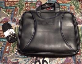 West 57th Street by Hilton Club Black Faux Leather? Padded Briefcase Car... - $164.32